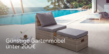 Günstige Gartenmöbel unter 200€
