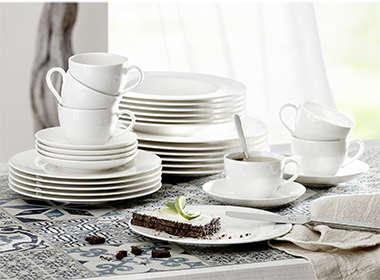 Elegantan i moderan servis za jelo bijele boje Lesnina XXXL