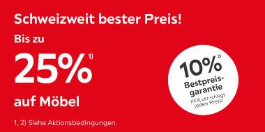 Schweizweit bester Preis!