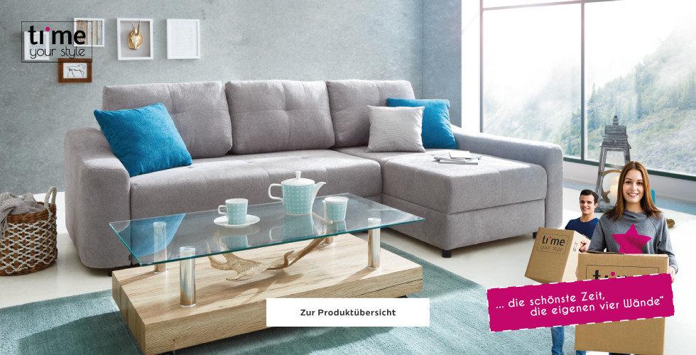 Wohnzimmer Wohnwand Wohnlandschaft Grau Türkis