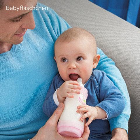 Mam Babyartikel Babyflaschen Blau Rosa
