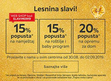 Proslavite s nama godišnjicu Lesnine Zagreb uz popuste