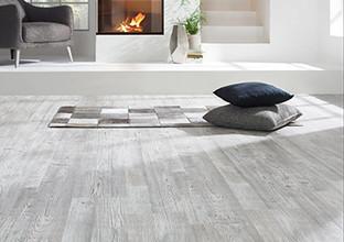 Laminátová podlaha šedá