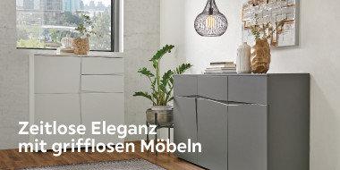 Zeitlose Eleganz mit  grifflosen Möbeln