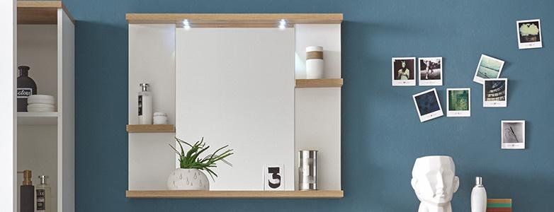 Badezimmerspiegel eichefarben