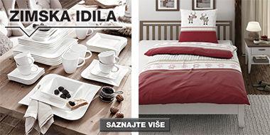 Zimska posteljina i elegantan servis za jelo XXXL Lesnina