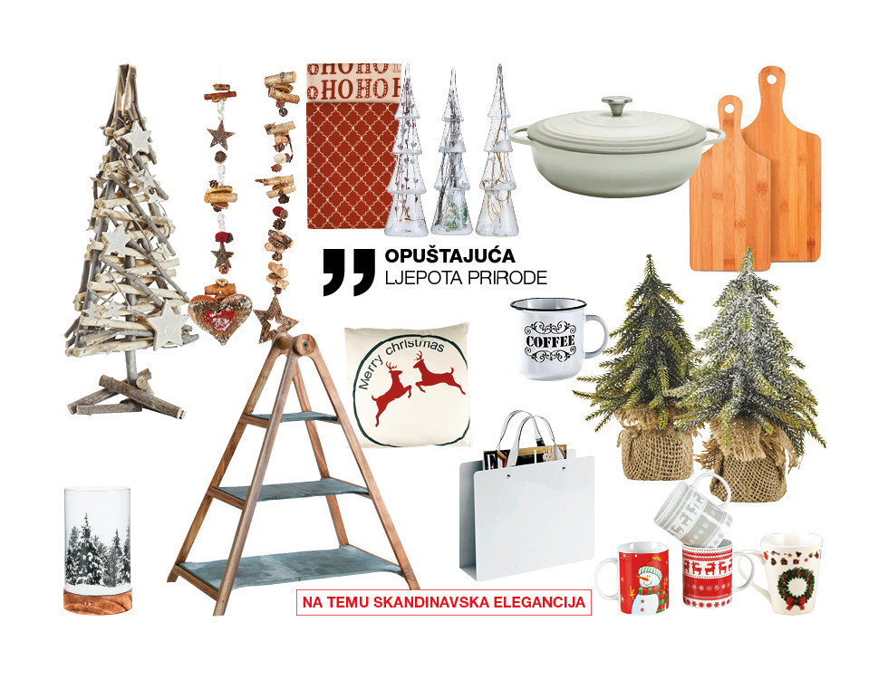 ljepota prirodnih božićnih ukrasa