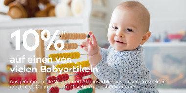 10% auf einen von vielen Babyartikeln