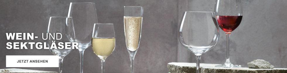 Wein und Sektgläser - hier entdecken