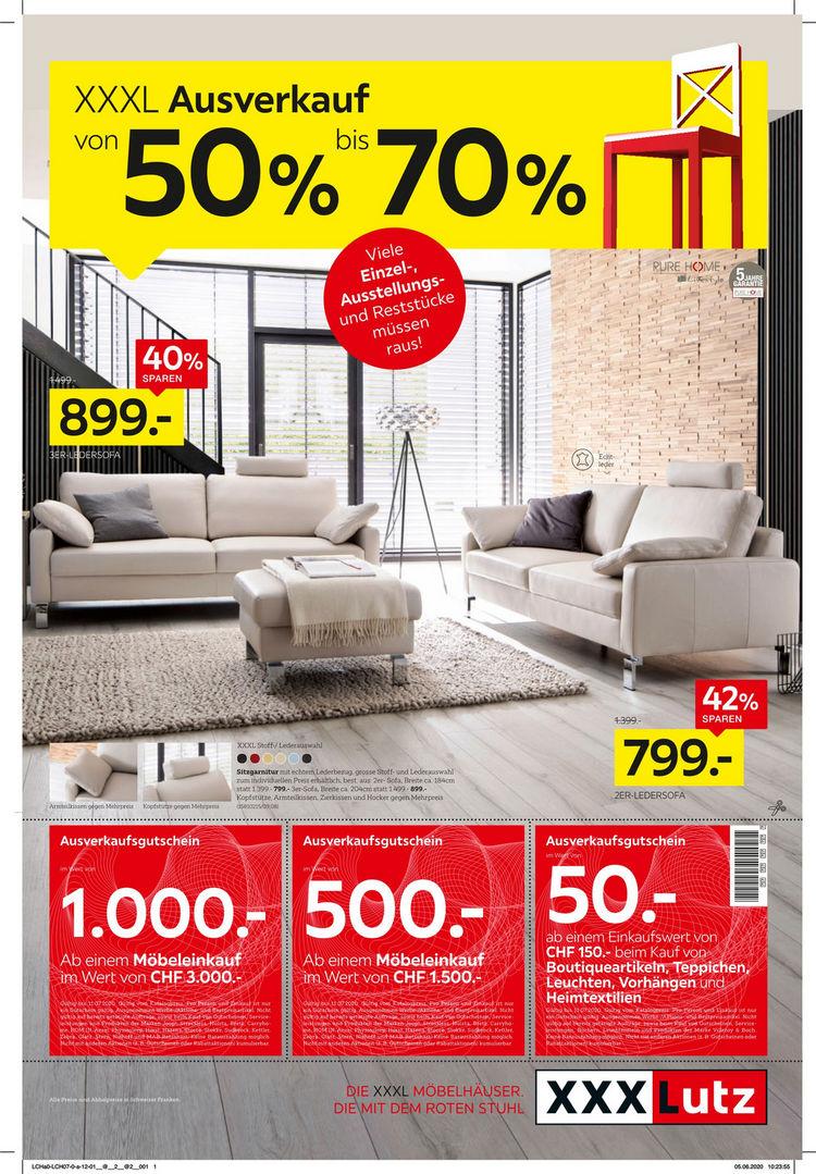 XXXL Ausverkauf von 50% bis 70%