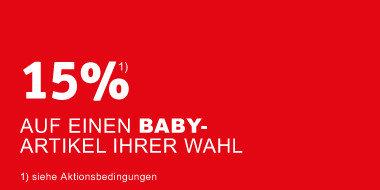 15% auf einen Babyartikel Ihrer Wahl