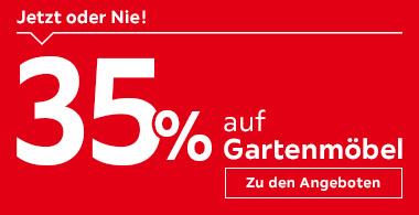 35% auf Gartenmöbel