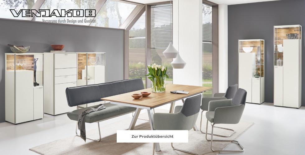 Venjakob Esszimmer Esstisch Holz Sitzbank Grau