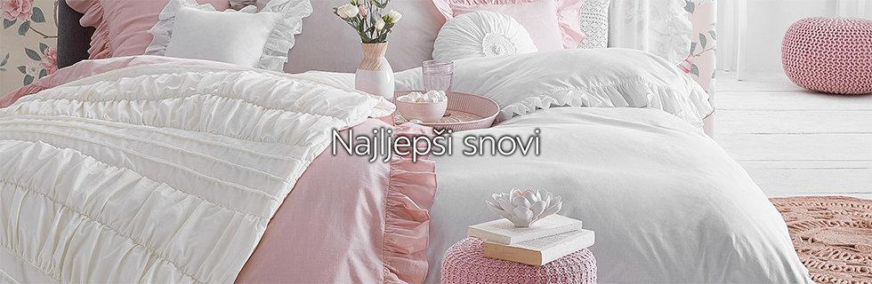 Romantičan krevet posteljine nježnih boja