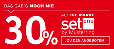 30% auf Set one by musterring