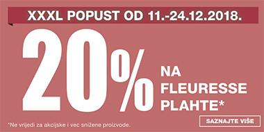 20% popusta na Fleuresse plahte u Lesnini