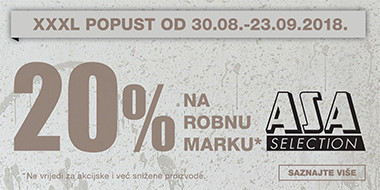 20% popusta na robnu marku Asa u Lesnini