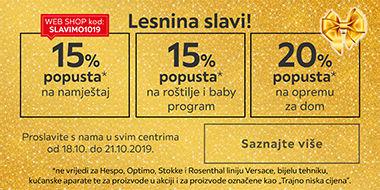Proslavite s nama rođendan Lesnine Varaždin uz popuste