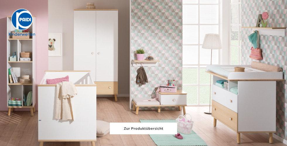 Paidi Kinderwelten Babyzimmer Rosa Grau Türkis