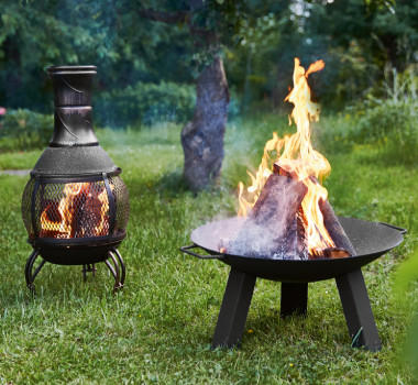 Schwarze Feuerschale von XXXLutz