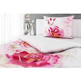 Bijela posteljina s ružičastim cvijećem