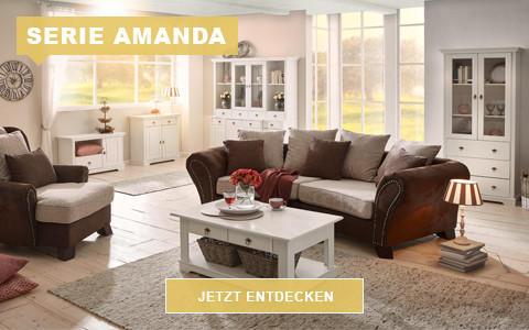 Wohnzimmer Amanda weiß rustikal