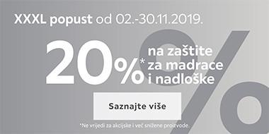 20% popusta na zaštite za madrace i nadloške