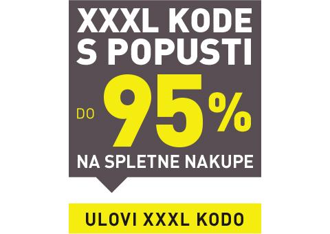 Do 95 % na spletne nakupe s XXXL kodami
