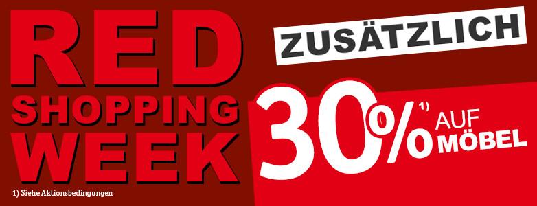 30% zusätzlich - RED SHOPPING WEEK
