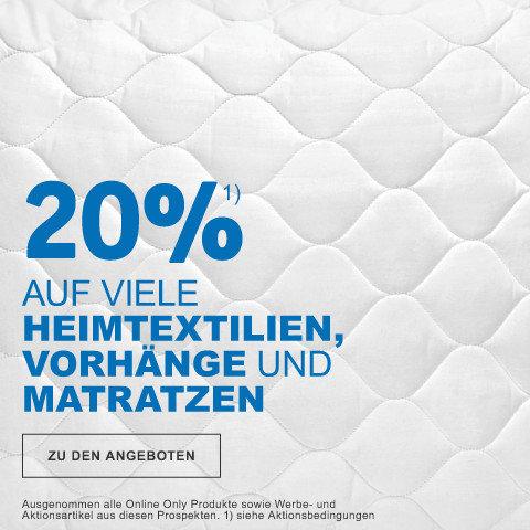 20% auf viele Matratzen  und Matratzensets