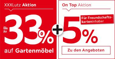 33% auf Gartenmöbel + 5% für Freundschaftskarteninhaber