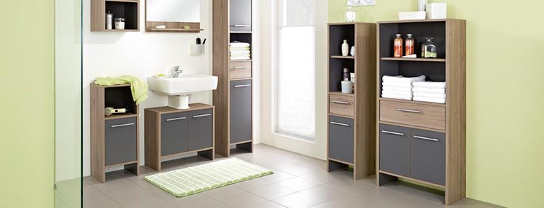 Badezimmerschränke Grau Holz