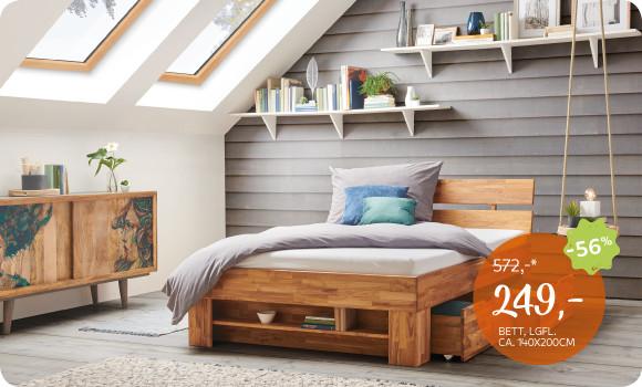 Carryhome Schlafzimmer aus Holz