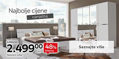 Moderna spavaća soba bijele boje Lesnina XXXL