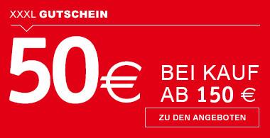Gutschein 50€ bei Kauf ab 150€