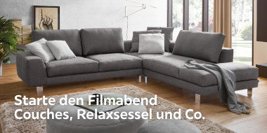 Starte den Filmabend Couches, Relaxsessel und Co