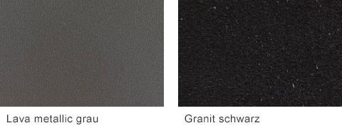 Set One by Musterring Malta Arbeitsplatten Lava metallic grau Granit schwarz
