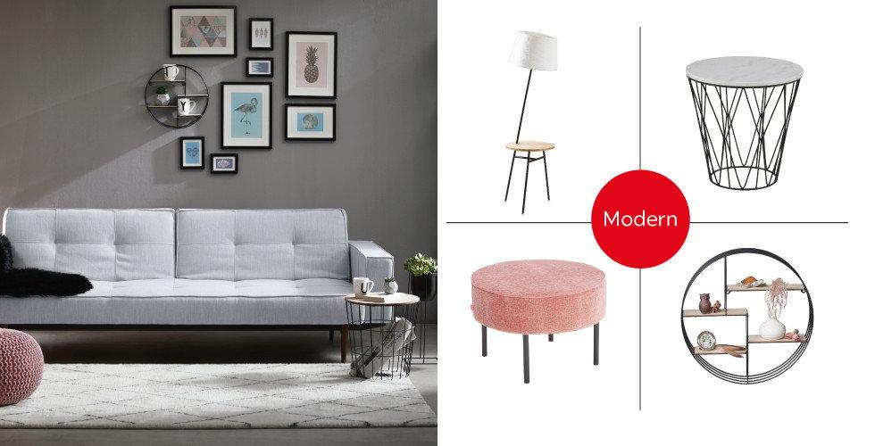 Shop the Style Modern Wohnlandschaft Grau