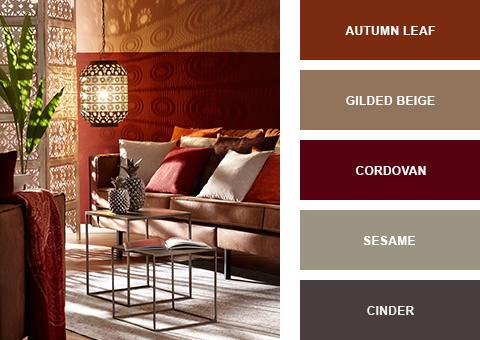 Dekoration und Möbel im Ethno Stil