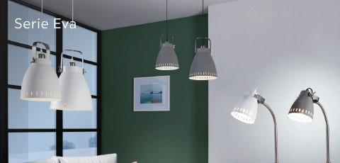Leuchten Serie Eva Grau Weiß Grün