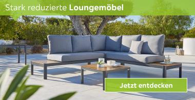 stark reduzierte Loungemöbel