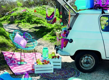 Piknik na prostem v stilu šestdesetih