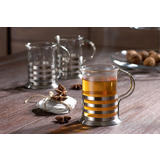 Stakleno-metalna šalica za čaj