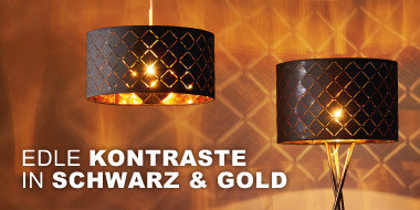 Edle Kontraste in Schwarz & Gold