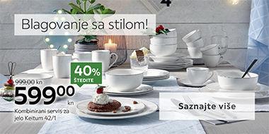 Moderan kombinirani servis za jelo Lesnina XXXL