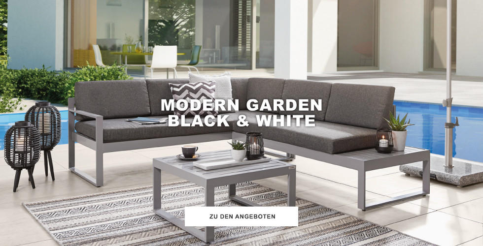 Modern Garden Black & White