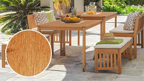 Gartentisch mit Stühlen, Eukalyptusholz