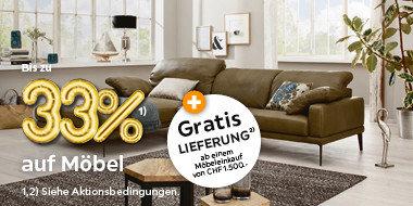 Bis zu 33% auf Möbel