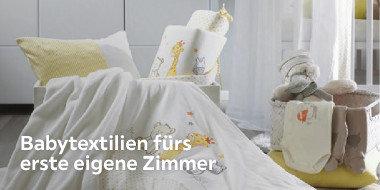 Babytextilien fürs  erste eigene Zimmer