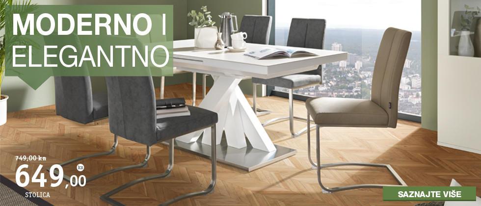 Moderne i elegantne stolice za blagovaonicu i stol Lesnina XXXL